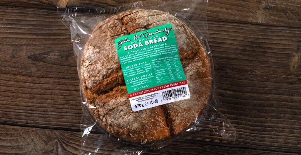 Round Sliced Soda Bread